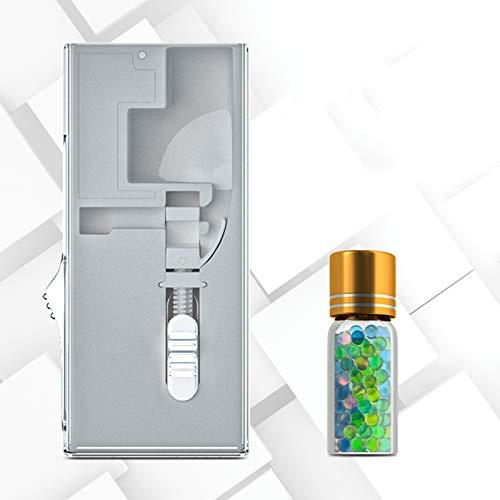 MKXULO 100 pieces aromatic capsules DIY explosion beads Cigarette filter cigarette filter Autofill Box,White,Blend
