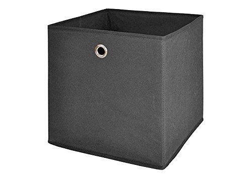 Möbel Akut Faltbox 4er Set anthrazit schwarz, Aufbewahrungsbox für Raumteiler oder Regale