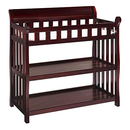Delta Children Eclipse Changing Table with Changing Pad, Espresso Cherry