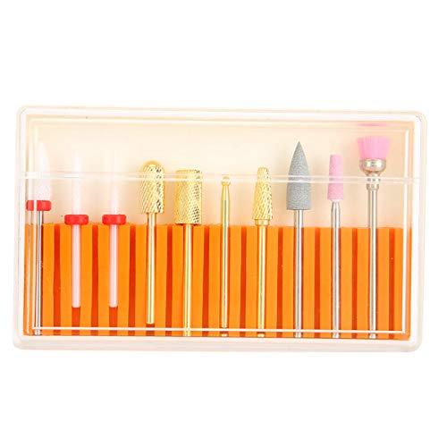 FAMKIT 10Pcs Nail Drill Bit Set Ceramic Electric Nail Polishing Cuticle Cutter For Manicure