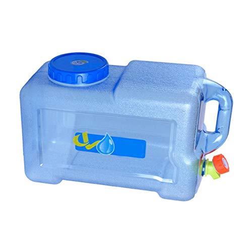 5L Tragbarer Wasserkanister mit Griff und Festmontiertem Ablasshahn, BPA-frei Wassertank für Fahrzeug Camping Outdoor Lange Reise