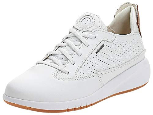 Geox Damen D AERANTIS A Sneaker, Weiß White, 36 EU