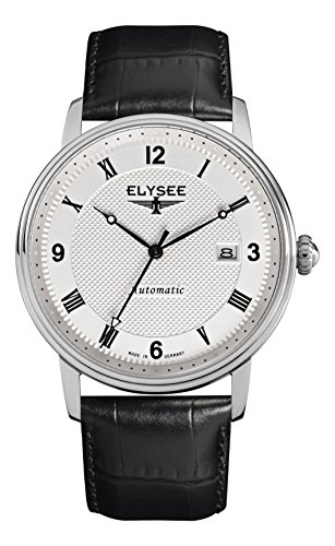 Armbanduhr Herren mit Glasboden | Monumentum Automatic von Elysee | Herrenuhr mit Automatikuhrwerk | Mit Qualitäts-Quarzuhrwerk (schwarz/Silber)