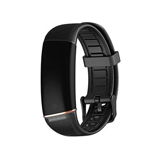 YDZ E98 Smart Watch Bluetooth Impermeable, Rastreador De Fitness De Ritmo Cardíaco, Podómetro, Monitoreo del Sueño, Pulseras Inteligentes para Hombres Y Mujeres para Android iOS,B
