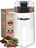 Mueller Austria HyperGrind Precision Electric Spice/Coffee Grinder Mill with Large Grinding Capacity and HD Motor also for Spices, Herbs, Nuts, Grains, White