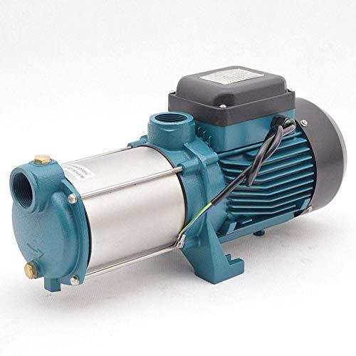 IBO / CHM Gartenpumpe Kreiselpumpe MHI2200 INOX + Druckschalter mit Manometer - Leistung: 2200W - Spannung: 230 V / 50 Hz 10800 L/h - 180l/min. Max. Druck 6 bar. Laufräder aus Edelstahl. - 2