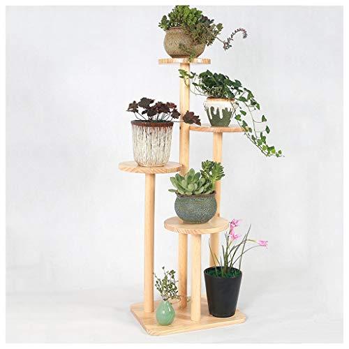 Xiuxiu Blumen-Rahmen Wohnzimmer Balkon Holz Europäische Zypresse Orchidee Bonsai Blumenregal Mehrschichtig Indoor, Holz, Beige