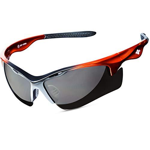 ToolFreak Rebel Polarisierte Sicherheitsbrille, blendfrei, dunkle getönte Gläser, inklusive Etui, Umhängeband, wasserabweisender Beutel und Tuch