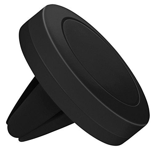 moex Magnetische 360° Auto Handyhalterung für alle Smartphones | Kompakt & unauffällig - Stabile KFZ Lüftungshalterung, Schwarz