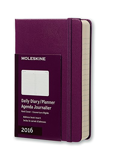 Moleskine 2016 Daily Planner, 12M, Pocket, Mauve Purple, Hard Cover (3.5 x 5.5)
