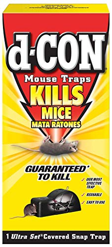 D-Con Reusable Covered Mouse Snap Trap, 1 Trap (Pack of 5)
