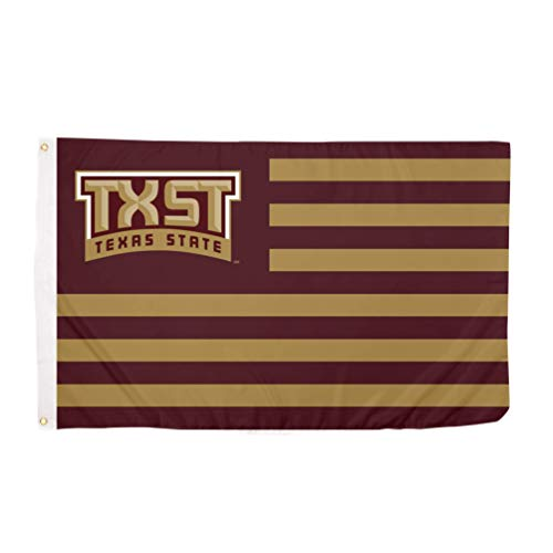 gymini Texas State University TxSt Bobcats 100% Polyester Indoor Outdoor 3 feet x 5 feet Flag (Nation)