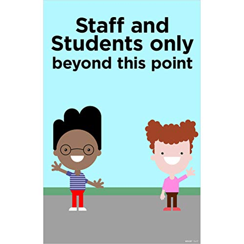 ARC Staff And Students Only Beyond This Point 11'x17' Laminated Poster English Pre-K, Kindergarten 4-Pack (EDU57)