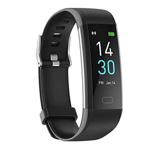 showyoo Smartwatch Reloj Deportiva de frecuencia cardíaca,oxígeno en Sangre,presión Arterial,Monitor de sueño IP68 Reloj Impermeable con conteo de Pasos,medición de Temperatura y de calorías