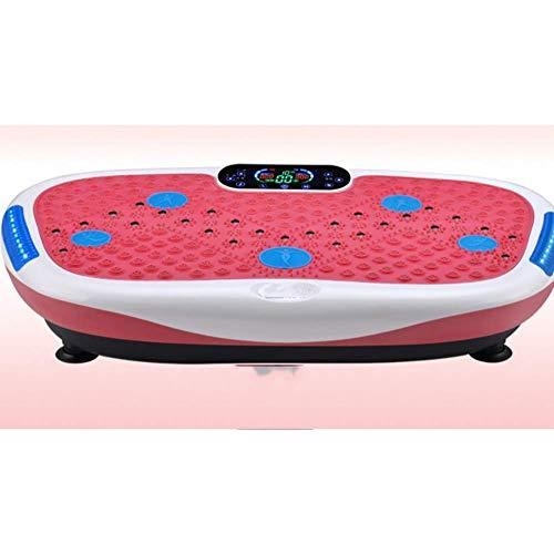 LJLis Vibrationsplatte Fitness Vibrationsgeräte Mit Extra Große Anti-Rutsch-Oberfläche LCD Display & Fernbedienung Zur Muskelstimulation Und Fettverbrennung,Rosa