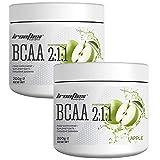 Ironflex BCAA 2:1:1 Pulver   200g je Dose (insg. 400g)   Geschmack: Apfel / apple   Workout Leucin...