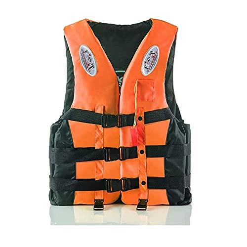 Chalecos salvavidas para niños / adultos, chaleco salvavidas automático, adultos y adolescentes, chaleco de flotabilidad 150-N para esquí acuático, remo, wakeboard, kayak, snorkel, chaleco,Naranja,M