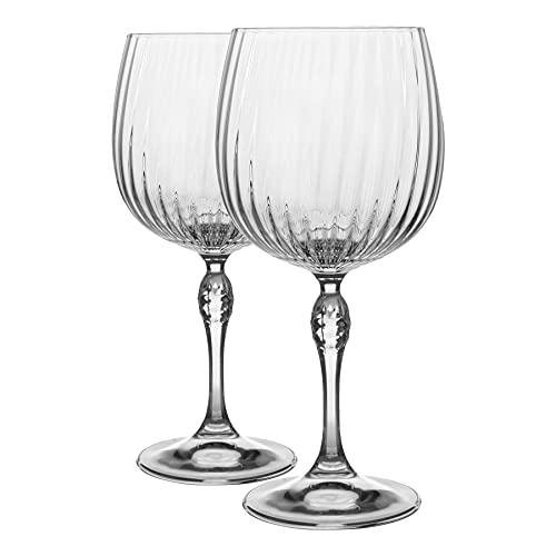 Bormioli Rocco - Juego de 2 copas de cóctel de 2 piezas con ginebra y tónica, estilo vintage Art Déco, Copa de Balon, 240 ml