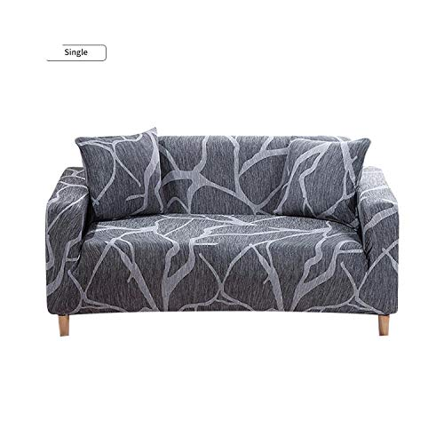 Funda de sofá universal de la cubierta del sofá de estilo geométrico elástico para la sala de estar en forma de L sofá elástico de los muebles de las fundas-azul-4-plazas 235-300cm