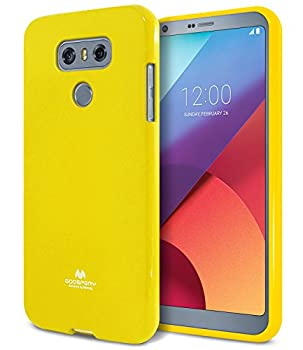 Goospery Pearl Jelly for LG G6 Case  2017  Slim Thin Rubber Case  Yellow  LGG6-JEL-YEL