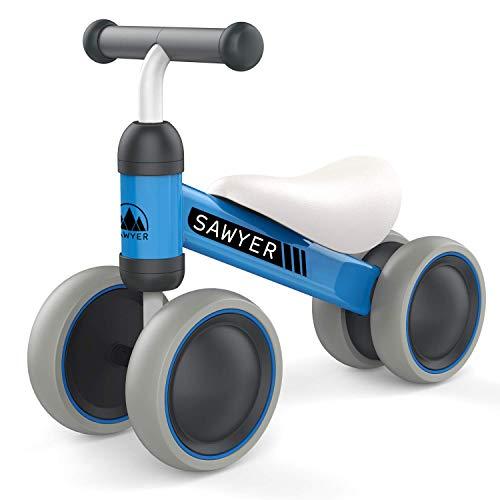 Sawyer - Correpasillos/Bicicleta Sin Pedales - Niños 10 a 24 Meses - Bebes 1 año (Azul)
