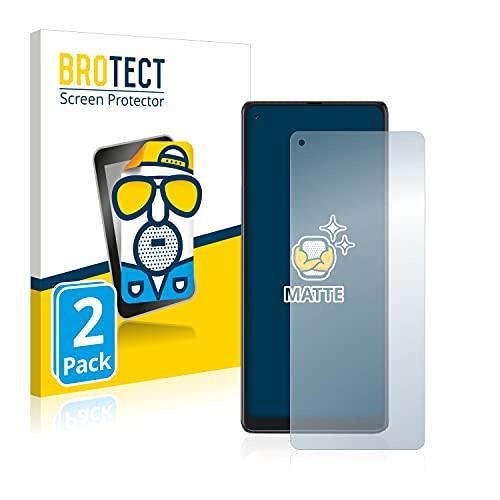 BROTECT 2X Entspiegelungs-Schutzfolie kompatibel mit Cubot Max 3 Bildschirmschutz-Folie Matt, Anti-Reflex, Anti-Fingerprint