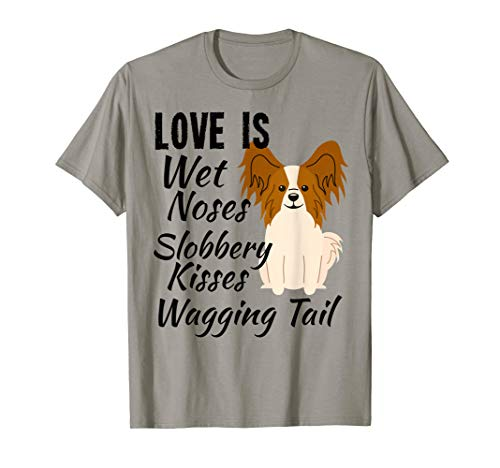 I love my dog T-Shirt Papillon Hund