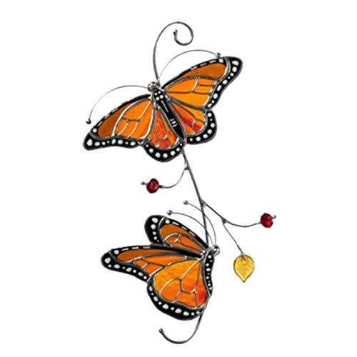 Xeroy Decoración De Mariposa Monarca De Metal, Decoración Colgante De Ventana De Mariposa, Manualidades De Arte De Pared para El Jardín del Hogar, Regalos Conmemorativos