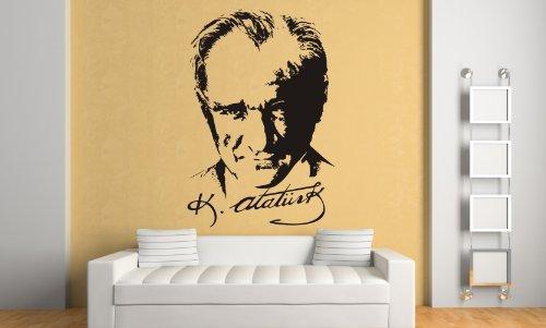 Atatürk Imzali Duvar Sticker Wandtattoo I Begründer der modernen Republik ( ca. 61 x 90 cm )