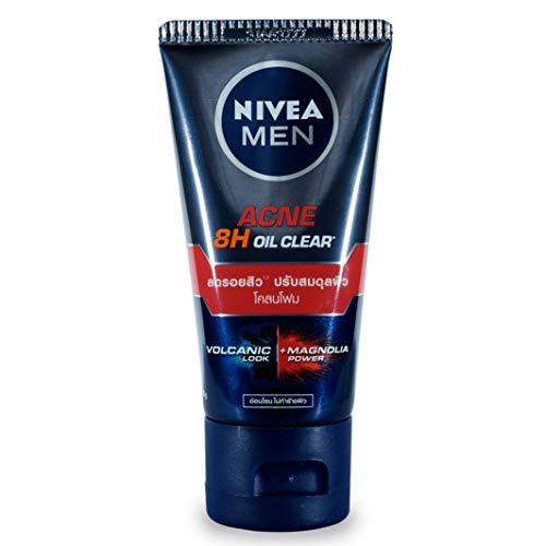 Nivea Hombres acné Oil Control barro espuma Facial Wash Limpiador 50G