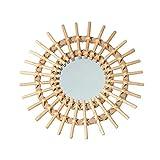 raninnao Espejos Pared Decorativos Espejo de Sol Espejo de Pared para baño Pasillo Sala Cocina Estancia