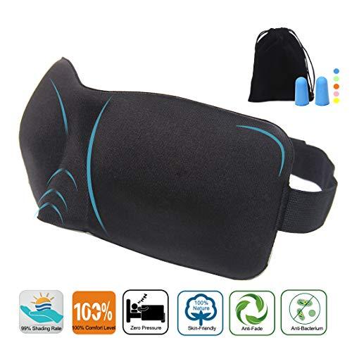 Paraller Schlafmaske für eine angenehme Nachtruhe, verhindert das Ausbleichen der Augen und schützt vor dem Schlafen, Reisen, Schichtarbeit und Nickerchen