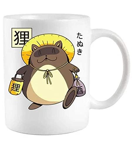 N\A Taza de café de cerámica Tanuki Yokai