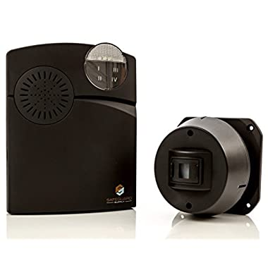 Driveway Alarm - Wireless Driveway Alarm - Long Range 1000 Foot Completely Wireless Driveway Alarm System with Weatherproof Driveway Alarm Sensor & Flashing Chime Receiver