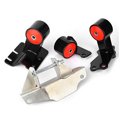 Engine Bracket, 4Pcs Steel + Polyurethane Engine Motor Mount Upgrade Kit Fit for Honda Civic/CRX D15/D16 88-91