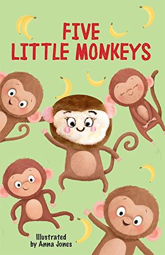 Five Little Monkeys - Oversized Children's Finger Puppet Board Book