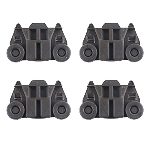 Amusingtao 4 ruedas para lavaplatos, estante inferior, ruedas para lavaplatos, estante inferior para platos, montaje de rueda, piezas de repuesto de eje de metal para lavavajillas auxiliar de cocina