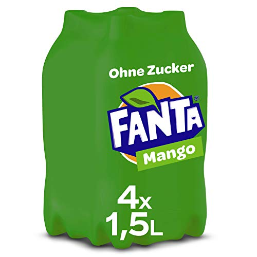 Fanta Mango ohne Zucker EINWEG, (4 x 1,5 l)