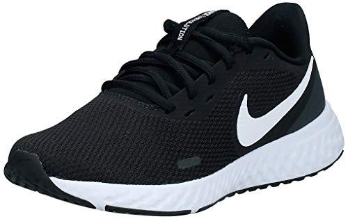 Nike Revolution 5, Chaussures de Running Compétition Femme, Noir (Black/White-Anthracite 002), 36.5 EU