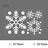 DXAQC Christmas Window Decoration, Snowflake Window Clings Snow Flakes PVC Stickers for Christmas Window Display (A,4pcs)