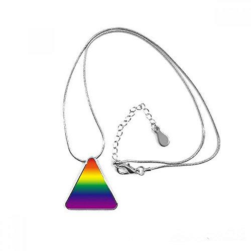 DIYthinker Farbverlauf LGBT Rainbow Homo Triangle Form Anhänger Halskette Schmuck mit Kette Dekoration Geschenk
