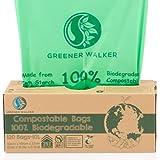 Greener Walker 25% Extra Gruesa compost Biodegradable 6L/10L/30L Bolsa Basura Alimentos Cocina Bolsas de basura(10L-120 Bolsas)
