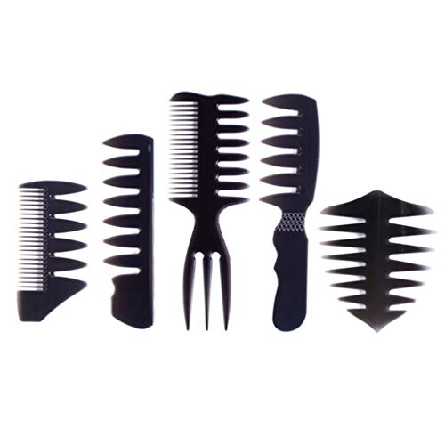 Lurrose Hair Texture Comb Wide Tooth Hair Shaping Comb Barber Hair Styling Comb Hair Modelling Comb Brush for Women Men