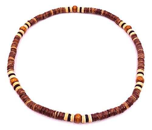Ajustable. Perlas de madera y fibra de coco.