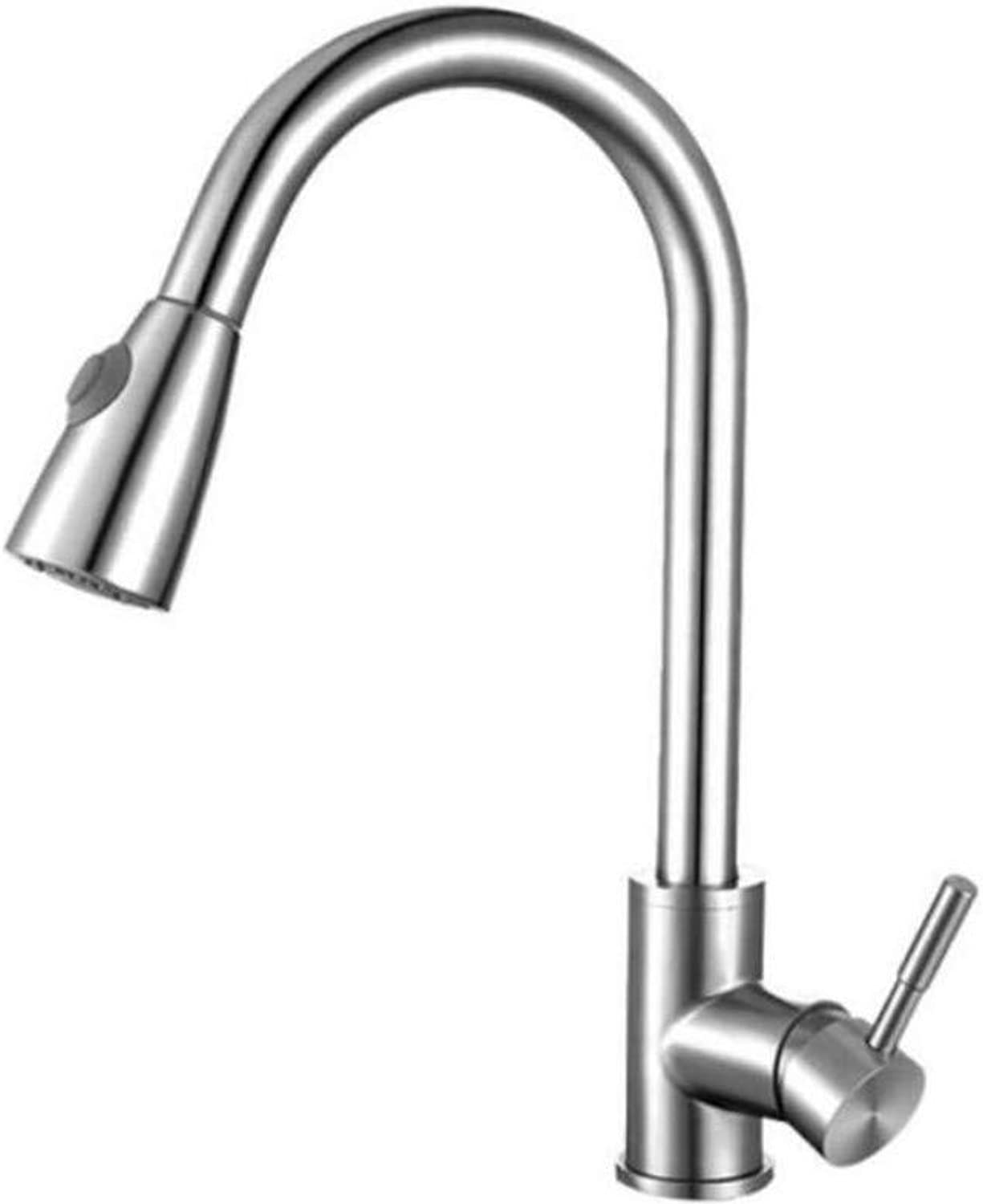 Taps Kitchen Sinktaps Mixer Swivel Faucet Sink Kitchen Pull Faucet Cold and Hot Basin