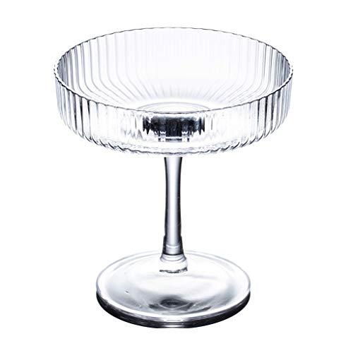 Vasos de Agua Crystal Clear Glass Copas de Vino, Copa de Cristal Conjunto, Bebidas, postres, Leche, Copa de Cristal Vasos Taza Transparente (2 Piezas) Vasos de Cristal