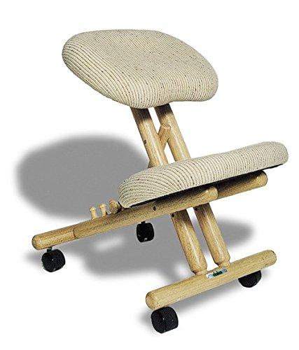 cinius Ergonomischer Stuhl Orthopädischer Kniestuhl Computerstuhl Kniehocker Stoff Natural Farbe