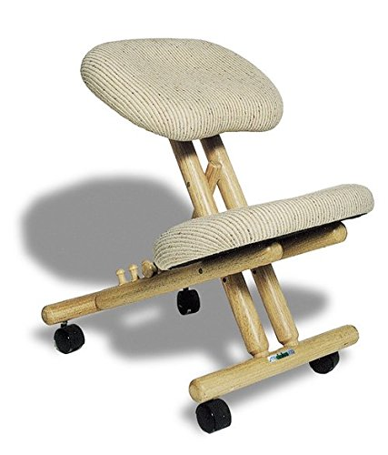 Cinius Ergonomic Kneeling Chair, Improve Your Posture with Angled seat, Non-deformable Cushions, rubberwood Frame