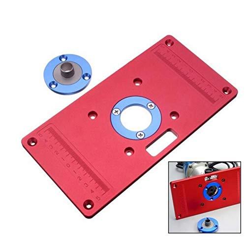 RTO700C Flip Board, Universal Aluminium Router Tischeinsatz Platte Ring für Beliebte Trimmer/Trim Router Holzbearbeitung Graviermaschine