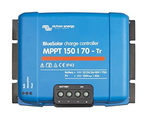 Victron 8719076025511 BlueSolar MPPT 150/70-Tr (12/24/36/48V-70A), Azul